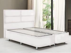 מיטה יהודית עם ארגז מצעים BARON-WHITE