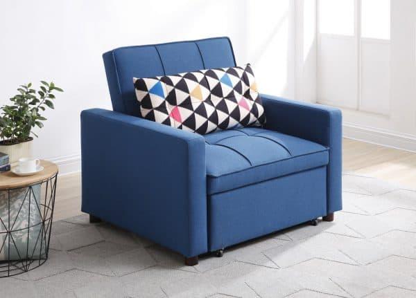 כורסא נפתחת למיטה VITA כחול