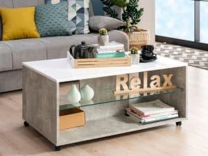 שולחן סלוני אפור בטון BELLA