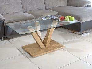שולחן זכוכית לסלון MIA