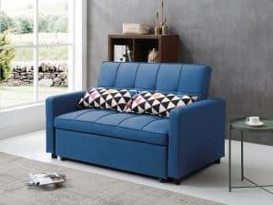 ספה דו מושבית נפתחת למיטה זוגית VIOLA כחול