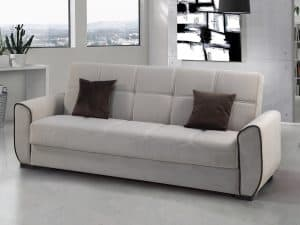 ספה תלת מושבית נפתחת BERLIN בצבע קרם