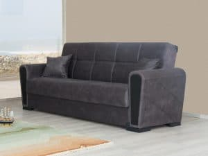 ספה נפתחת למיטה ROME בצבע אפור