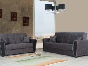 ספות לסלון 3+2 עם ארגז מצעים ROME