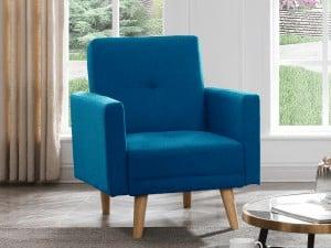כורסא מעוצבת MILA-BLUE