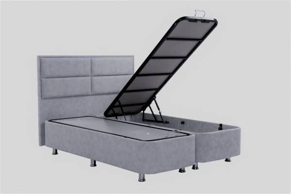 מיטה זוגית 160/200 עם ארגז מצעים BARON-GRAY
